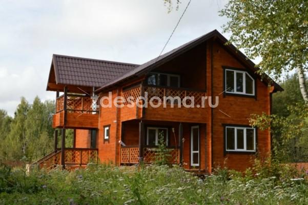 Жилой дом c круговой верандой в коттеджном поселке около г.Струнино, 85 км. от МКАД Ярославского напр., ДПК, на 10 сотках