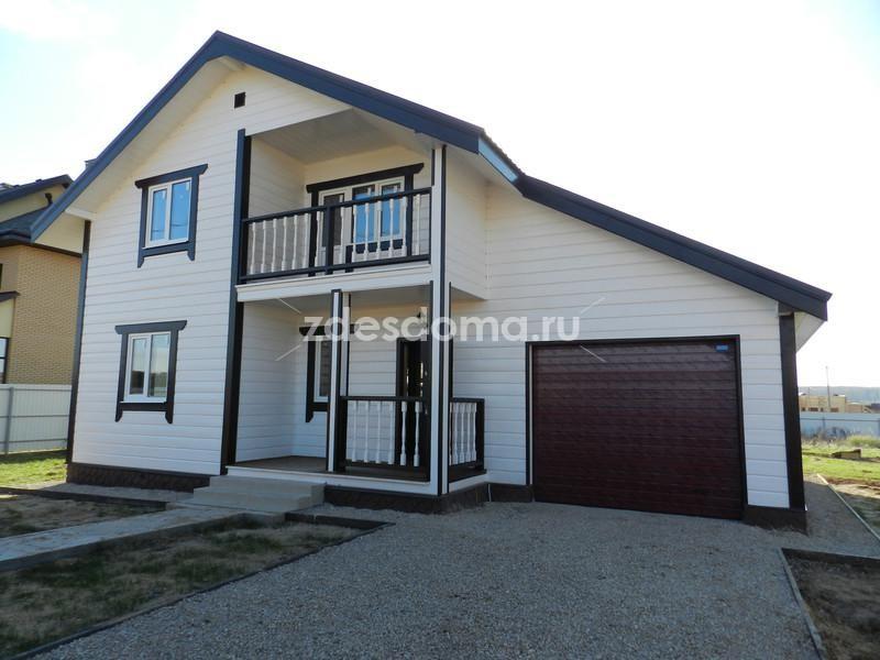 Дом, коттедж из бруса под ключ в Калужской области гараж 15 соток магистральный газ у озера